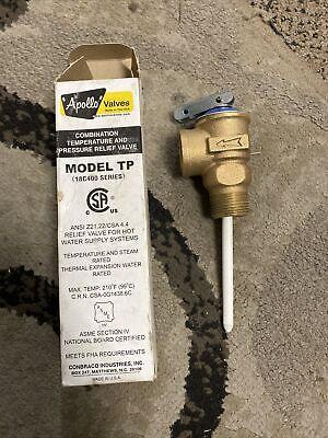 Apollo Temperature And Pressure Relief Valve Model Tp 18c400 Series