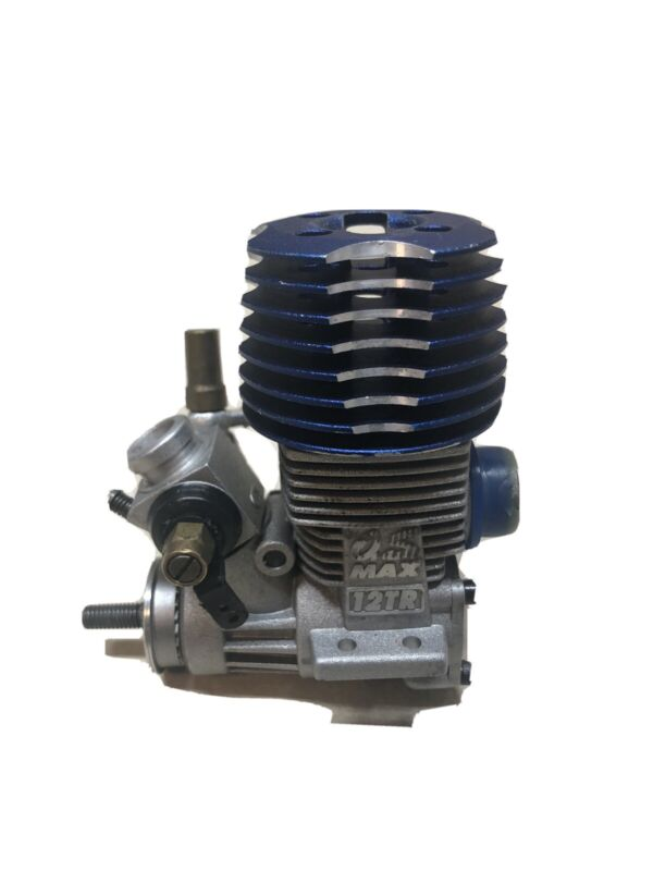 O.S. MAX 12TR .12 Nitro Engine w/ 10M Automatic Carburetor 11360, Slightly Used