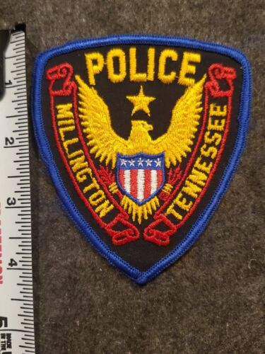Vintage Millington Police Patch - Tennessee Cheesecloth