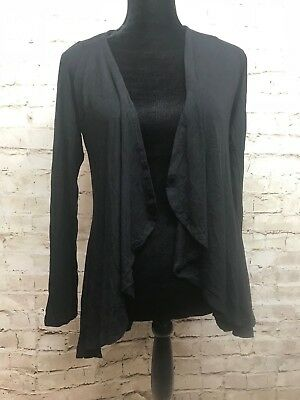 MEXICALI BLUES BOUTIQUE Ladies Cardigan BLACK FREE FLOWING Open front  M/L New for sale  Shipping to India