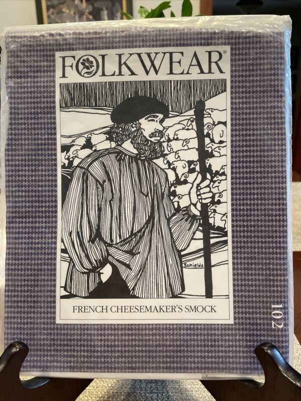 Vintage Folkwear Pattern French Cheesemaker's Smock Costume Reenactment