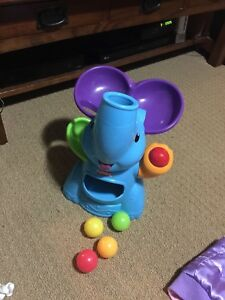 Elephant ball blowing toy