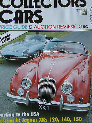 COLLECTORS CARS MAGAZINE SUMMER 1989 PRICE GUIDE AUCTION REVIEW USA JAG TOP (Price Usa Review)