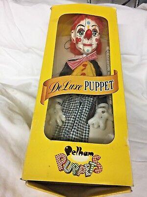 DELUXE  PELHAM PUPPET Marionette BIMBO CLOWN  in Original Box -- DL14