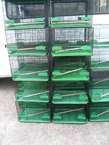 NEW SQUARE BIRD CAGES BLACK- $13 EACH- MED SIZE -READ AD!!