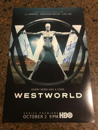 * WESTWORLD * signed autographed 12x18 photo poster * WRIGHT, NOLAN, JOY * 1