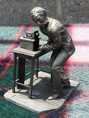 Alexander Graham Bell  Telephone small statue figure Deutsches museum Spelter /