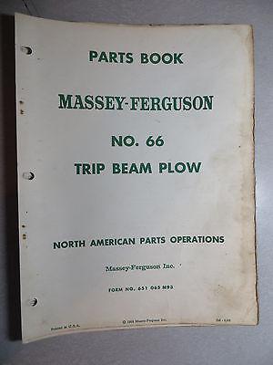 Massey Ferguson No. 66 Trip Beam Plow Parts Book