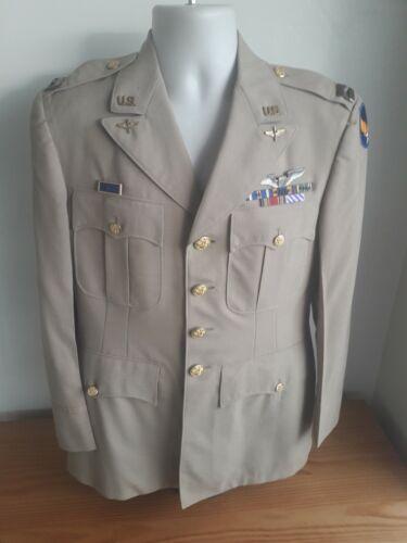 WW2 USAAF Army Air Force Tan Summer Dress Coat DFC British