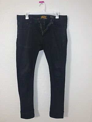 vintage superdry copper black denim men skinny jeans 34W x 32L