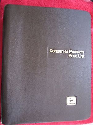 2002 John Deere Dealer Lawn-utility Tractors-consumer Products Price List Manual