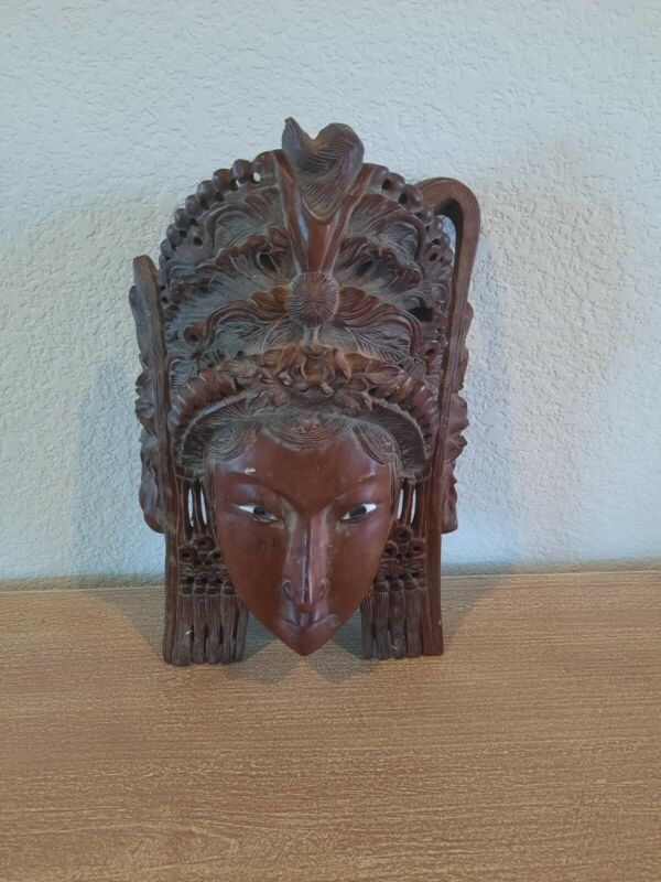 Carved Wood Chinese Princess Decorative Mask