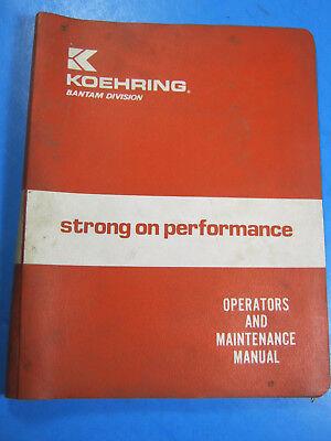 Koehring Bantam T-644 Teleskoopp Operators Maintenance Manual