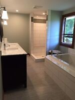 Finish carpentry and. Bathroom renovations