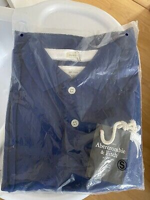 Genuine Abercrombie and Fitch Mens Polo Shirt Top Size Small Blue