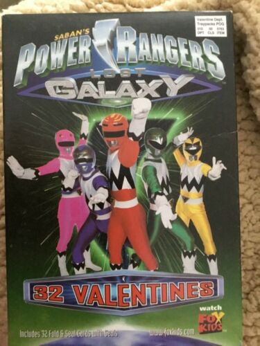 Power Rangers Galaxy Valentines Day Cards - 1999 Saban NOS