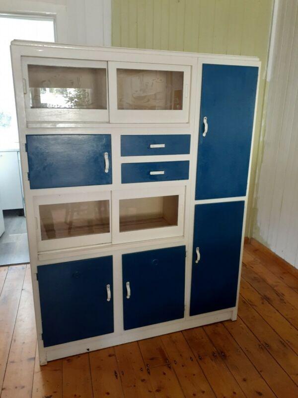 vintage kitchen cupboard