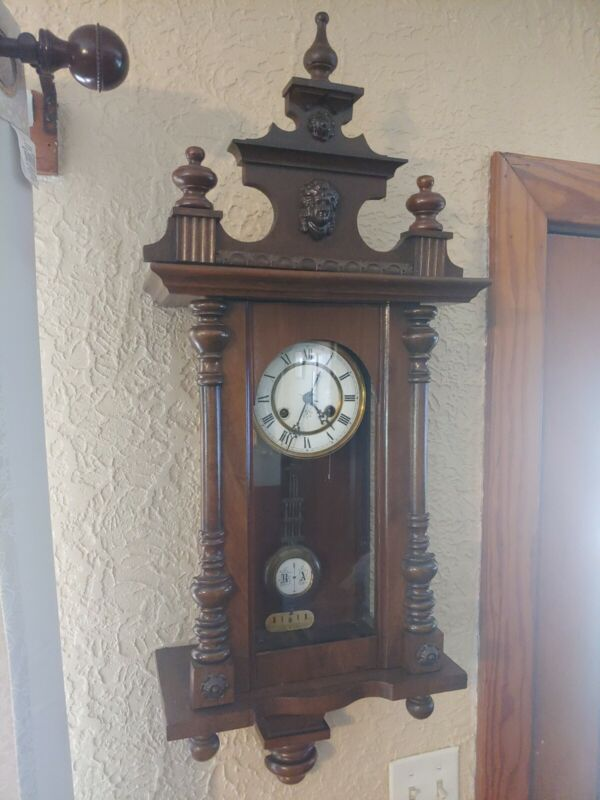 Antique Junghans German Wall Clock.