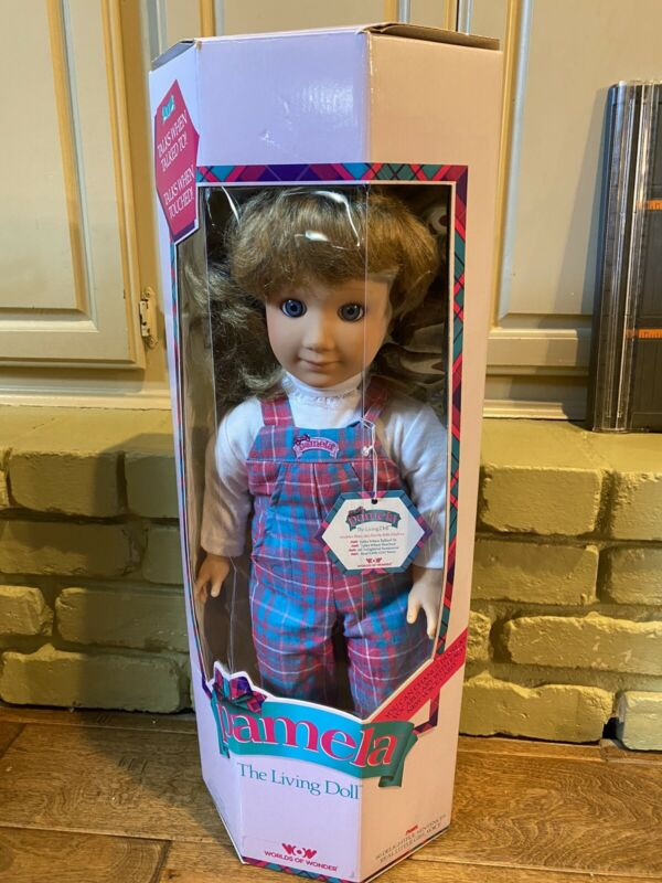 "Talking Pamela 22"" Doll By Worlds of Wonder  2 Voice Cards 1986 The Living Doll"
