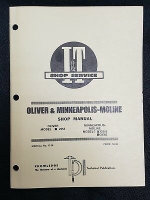 Oliver 2255 Minneapolis Moline G955 G1355 Tractor It Service Manual O-26