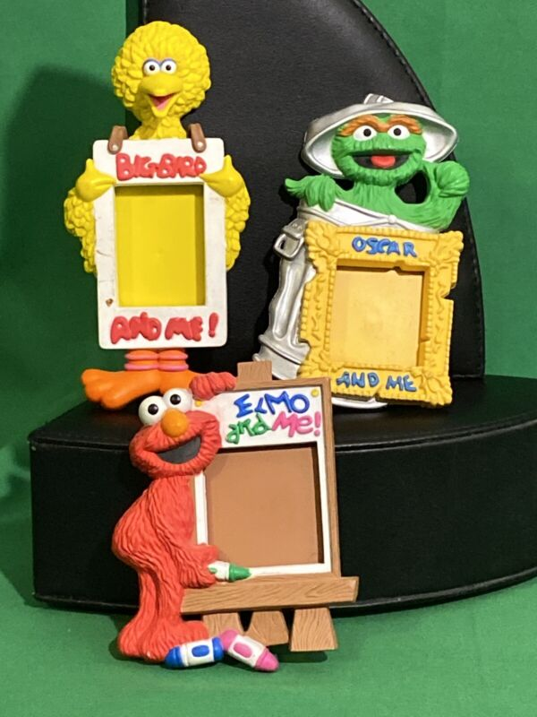 Vintage Enesco Sesame Street 1993 School Picture Frame Magnets