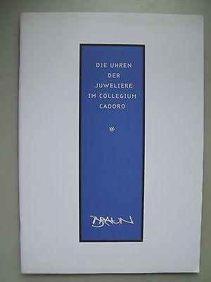 Die Uhren der Juweliere im Collegium Cadoro