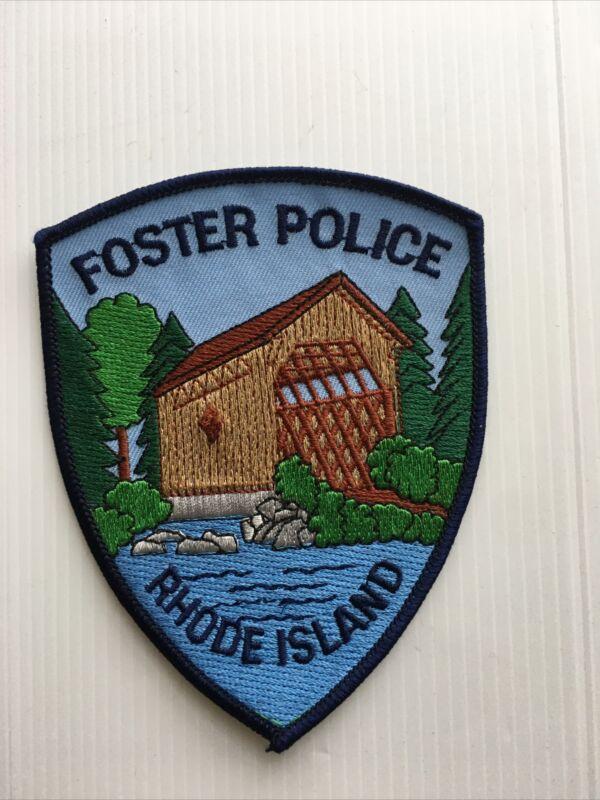 FOSTER POLICE / RHODE ISLAND  Law Enforcement Shoulder Patch