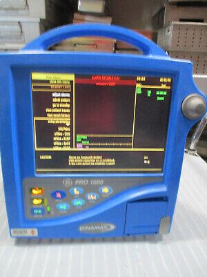 Dinamap Pro 1000 Dp1100 Patient Monitor Bp Masimo Spo2 Ecg Temp