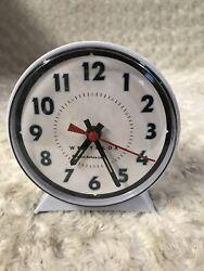 Westclox White Dial Keywound Loud Bell Alarm Clock--Brand New-No Box