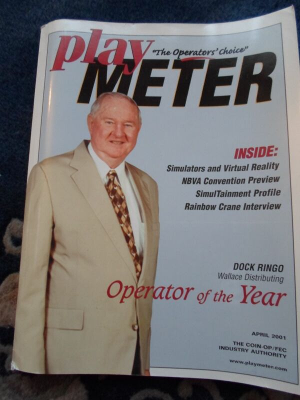 coin-op Amusements April  2001 Play Meter MAGAZINE,Operator of the year