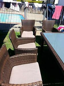 8 Seater dinner outdoor bamboo table Yamanto Ipswich City Preview