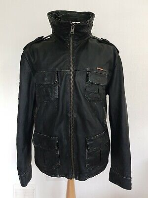 Superdry Brad XL Quality Motorcycle Style Leather Jacket