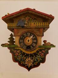 Vintage Mini German Novelty Black Forest Germany Novelty Wall Clock Parts/Repair