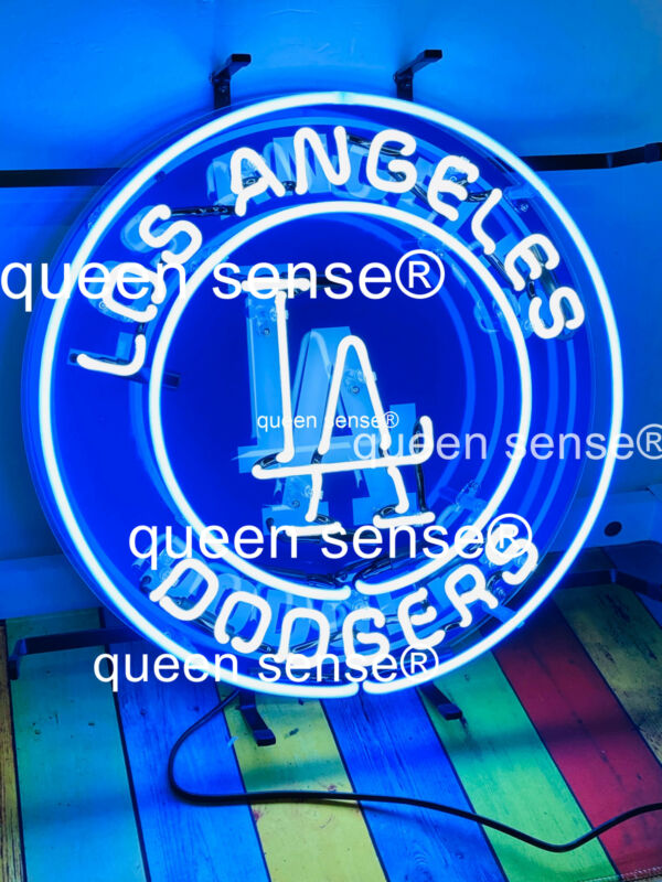 "Los Angeles Dodgers Neon Sign 17""x17"" with HD Vivid Printing Technology"