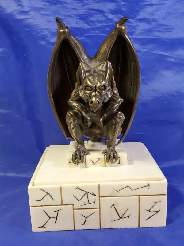 """Metal Gargoyle & Resin Rune Jeweley/Trinket Box - by Zoei 9.5"""" tall Gothic"""