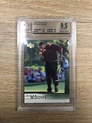 2001 UD Upper Deck Tiger Woods #1 BGS 9.5 Gem Mint (10 Sub) True Rookie RC