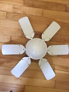 Small ceiling fan and light fixture