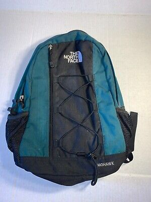 The North Face Mohawk Camping Hiking Day Pack Backpack Book Bag Green- VINTAGE
