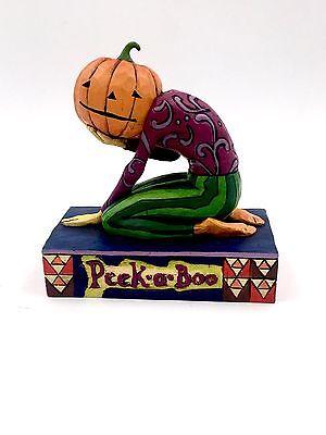 Peek A Boo Pumpkin Head Halloween Figurine Jim Shore C4005339