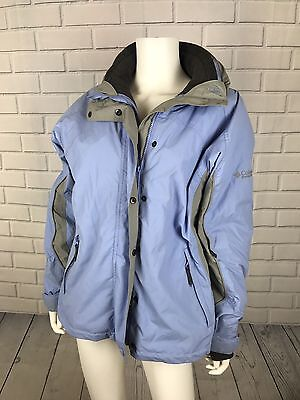 Columbia Womens Fleece Lined Bugaboo Winter Jacket Size Medium Light Blue Gray  Bugaboo Gray Fleece
