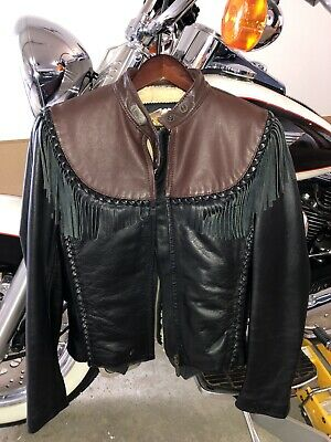Ladies Leather Harley Davidson  Willie G Jacket  XS. Vintage Late 90's