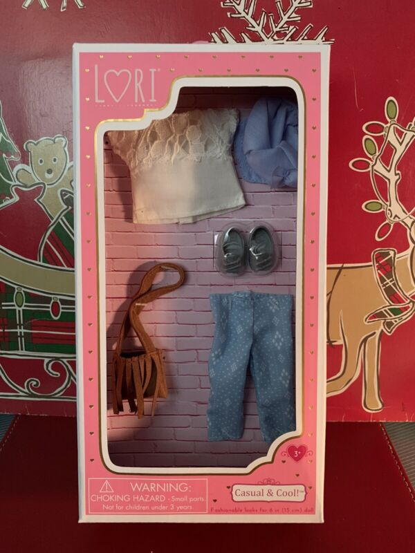 """Lori Casual & Cool Outfit w Purse Shoes & Scarf for 6"""" Dolls!"""