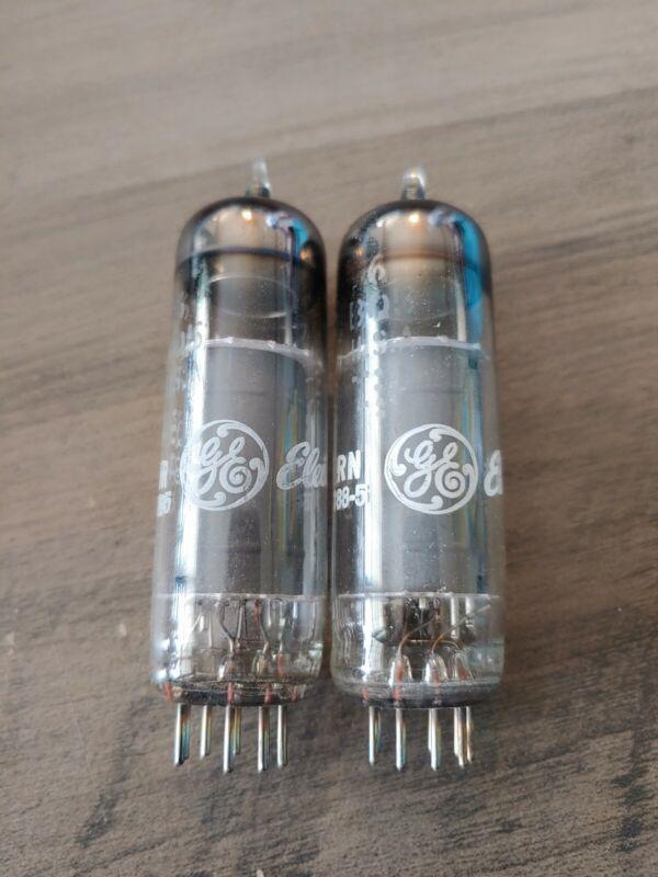 Pair 6BQ5 GE General Electric Power Tubes