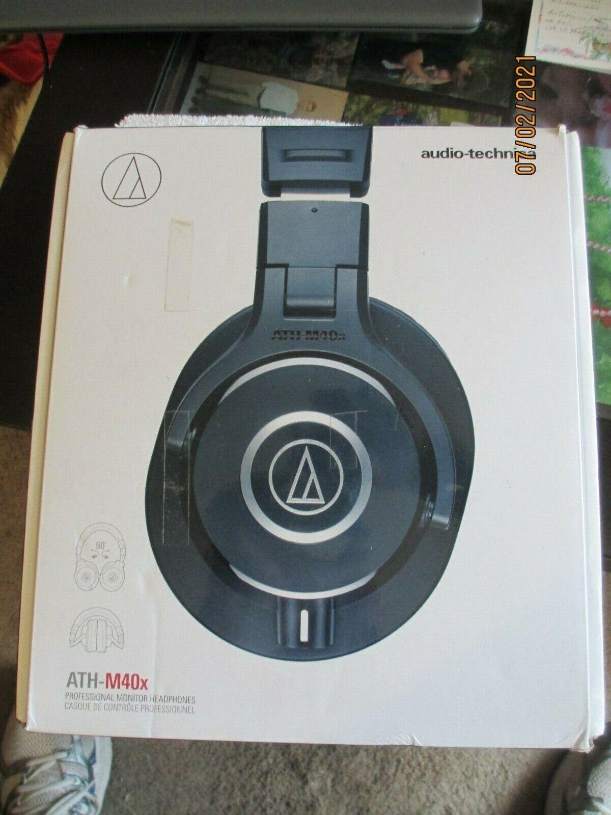 Audio-Technica ATH-M40x Over-Ear Headphones - Black