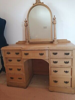Antique Late 19th Century Pine Dressing Table