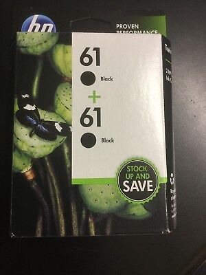 HP 61 Genuine Black Ink Cartridge Twin-pack 2-pack Sealed NEW 2020 #1663