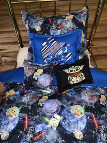 """Star Wars Themed Bedding Set Can Be Used American Girl / 18"""" Doll Embroidered"""