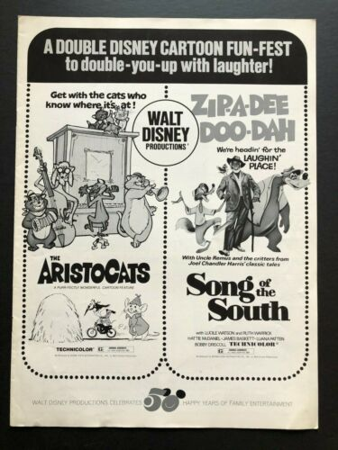 """The Aristocrats & Song of the South Pressbook (1973) - 12 Pages 11"""" x 15"""" EX+"""