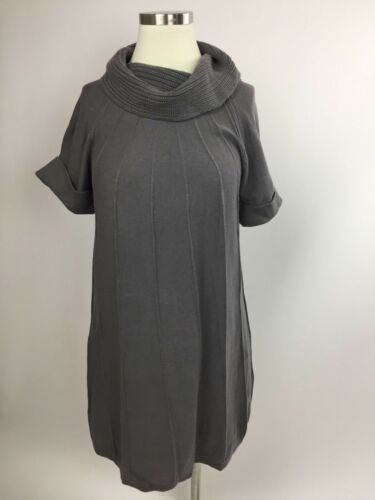 Gap Maternity Gray Seamed Aline Tunic Sweater Cowl Neck Small Excellent