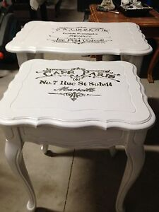 Set of 2 Antique custom finished tables  London Ontario image 2